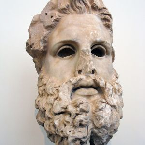 Aigeira Colossal Head Of A Statue Of Zeus. Marble. Second Half Of The 2nd C. BC 3470806199b